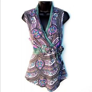 Anthropologie C.Keer Ancient Pathways Paisley Tank